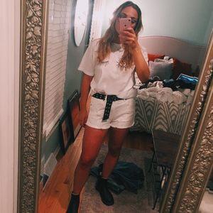 American Eagle White Shorts